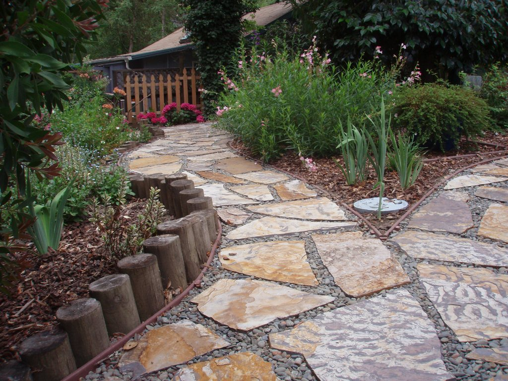 and the stones which are flat in shape can be used to make walkways
