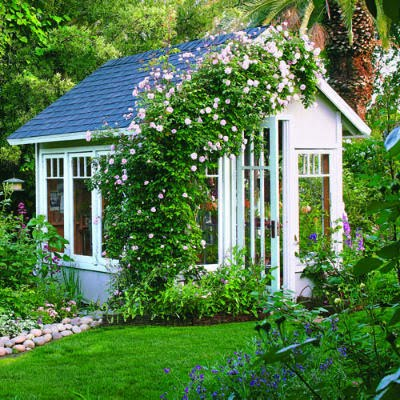 Creative shed decoration ideas shed liquidators for Small backyard cabin